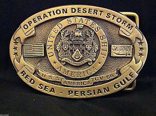 USS America Custom Navy Belt Buckle C.V. 66 (Solid Brass) Desert Storm