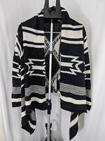 Lauren Jeans Company ralph lauren wrap shawl black and white aztec Med sweater