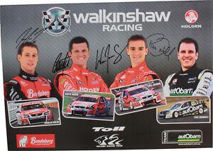 Signed Holden Walkinshaw Racing Poster Reynolds Tander Davison Dumbrell