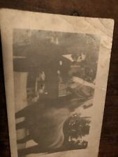 Vintage old Rppc Real Photo Postcard Man Horse Unknown Place and Date