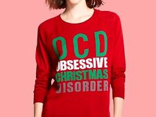 NEW WITH TAG Controversial OCD Obsessive Christmas Disorder Ugly Sweater, Size M