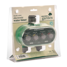 Dual Automatic Watering Timers Electric System Water Irrigating Clock Kingfisher