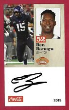 Ben Banogu Signed 2019 Senior Bowl Tcu Horned Frogs Indianapolis Colts Rookie F