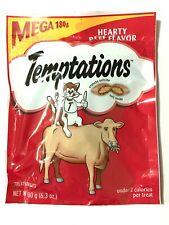 Whiskas Temptations Treats for Cats Mega BAG Beef FLAVOR 6.3 OZ 180g