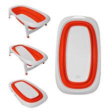 Baby Bath Time Orange Design Foldable Splash & Play Transportable BathTub
