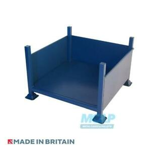 Metal Stillage with Solid Sides and Open Front - Made in the UK £100+VAT