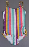 Old Navy Girl's Stripe Printed Cut-Out Back Swimsuit SH3 Multi-Color Size XL NWT