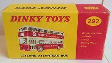 Dinky 292 Leyland Atlantean Bus 'REGENT' Empty Repro Box Only