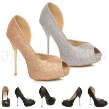 Scarpe da donna spillo aperta in punta sintetico