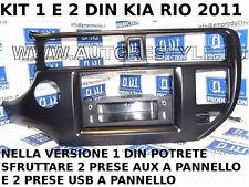 PANEL CON 2 USB 2 AUX PARA INSTALLAZIONEAUTORADIO 1 DIN PARA KIA RIO '11