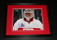 Ty Conklin Signed Framed 8x10 Photo 2009 Winter Classic Red Wings