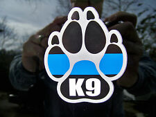 2 Thin Blue Line K9 Paw  Decals-  Police Dog Patrol Dog SAR Dog - Ships FREE!!!