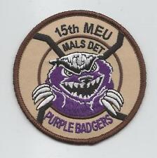 """15th MEU MALS DET """"PURPLE BADGERS."""" desert  patch"""