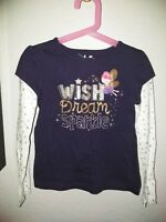 Jumping Beans Girls Size 6X Long Sleeve Wish Dream Sparkle Top