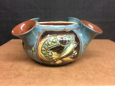 C. H. Brannam Devon Pottery Arts & Crafts Fish Vase 1901