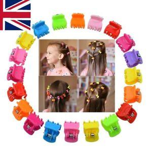 Multicolour Mini Small Hair Colourful Claw Clamps Hair Clips Hair Grips 1.5cm UK