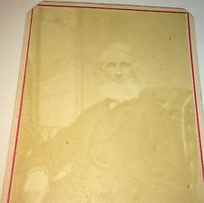 Antique Handsome Victorian Old Man, White Beard! Fulton, New York CDV Photo! US!