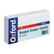 Oxford Ruled Index Cards 3 X 5 White 100 Pack 31