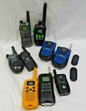 lot of 9 Motorola Walkie Talkies Talkabout250 Fv100 Tlkrt8 Cls1110 Md200R etc.