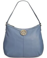 Tommy Hilfiger Hobo bag Maggie Pebble Leather Large Hobo Bag French Blue