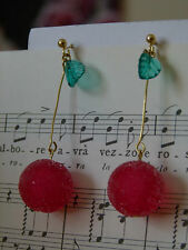 Handmade Japanese sugar coated Beads Red Cherry Candy Boucles d'oreille