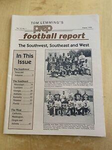Tom Lemming's Prep Football Report 1993 Recruiting SW, SE, West  Peyton Manning