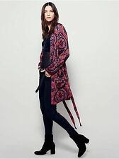 Free People Sensual Printed Duster NWOT S/O $168 Paisley Robe Size Large