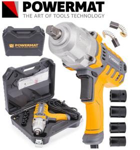 "POWERMAT ELECTRIC IMPACT WRENCH 2100W 800 Nm 230V 1/2"" DRIVE POWER NEW BOX"