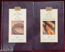 Ellen G White Duo: The Desire of Ages ~ The Acts of the Apostles HB Books SDA
