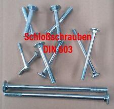 Flachrundschrauben // Schlossschrauben mit Hutmuttern - M5x25 - V2A Edelstahl A2 - Vollgewinde DIN 603 // DIN 1587 hohe Form 50 St/ück - SC603 // SC1587