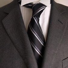 Van Heusen 3 buttons Men's Black Gray Houndstooth Blazer Jacket Sport Coat 44R