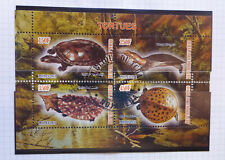 2011 CHAD TURTLES 4 STAMP MINI SHEET CTO USED STAMPS #2