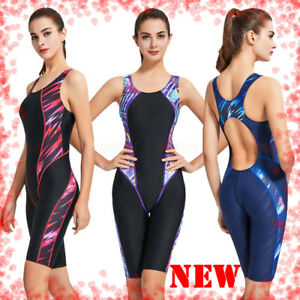NWT WOMEN'S ONE PIECE COMPETITION TRAINING RACING KNEESKIN SWIMSUIT ALL SIZE NEW