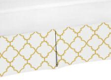 Gold And White Baby Crib Skirt Dust Ruffle For Jojo Girls Trel 00004000 lis Bedding Set