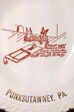 Vintage Punxsutawney PA Adult Joke Souvenir Gold Trim Ashtray Nude Mouse Woman