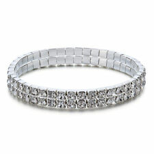 Unbranded Tennis White Gold Plated Fashion Bracelets