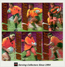 1996 Futera Rugby Union Trading Cards HOBBY NO BARRIERS Full Set (9)-Rare