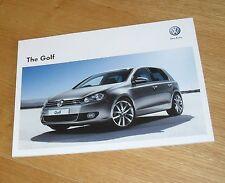 Volkswagen VW Golf Mk6 Brochure 2012 GTD GTI Edition 35 1.4 TSI 2.0 GT TDI