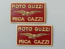 PATCH MOTO GUZZI MICA CAZZI  N.2 RICAMATO ORO TERMOADESIVO CM 9X5-COD.401