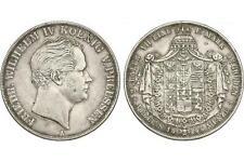 PREUSSEN - Friedrich Wilhelm IV. (1840 - 1861) Doppeltaler 1845 A Silber [D-45]