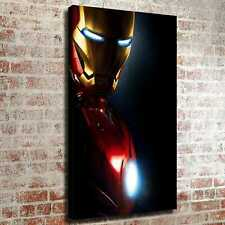 "12""x20""Indifferent Iron Man HD Canvas prints Painting Home decor Room Wall art"