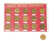 More details for 1938-52 uncirculated set of 15 george vi wren farthing coins in casing
