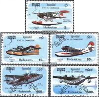 Kambodscha 1323-1327 (kompl.Ausg.) gestempelt 1992 Wasserflugzeuge