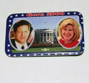 2000 AL GORE TIPPER campaign pin pinback button clinton political presidential