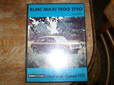 INTEREUROPE 1969 BLMC 1500/1750 MAXI WORKSHOP MANUAL