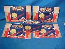 5-Unused 1930s CHRISTMAS Cardboard CANDY BOXES w SANTA Design