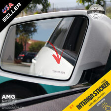 8X AMG Side Mirror Emblem Aluminum Interior Decal Sticker Badge Decoration Logo