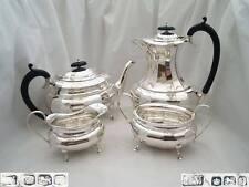 SUPERB GEORGE V HM STERLING SILVER 4 PIECE TEA SET 1932