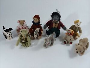 Lot Ganz Cottage Collectibles Jointed Animal Figurines Bear Frog Monkey Max Cat