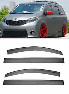 For 11-Up Toyota Sienna Mugen Tape-on Style Visors JDM Side Window Rain Guards